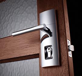 front door lock installed by locksmith kew east