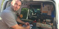 Locksmith Mooroolbark working in van
