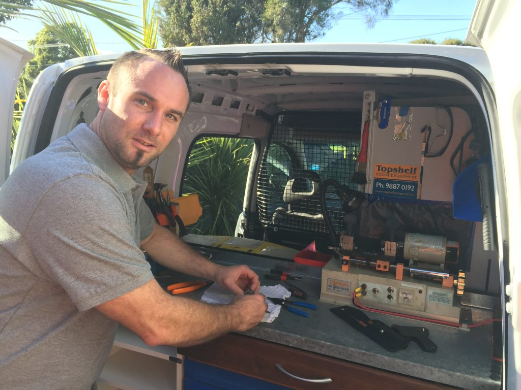 eastern suburbs melbourne- locksmith working in van