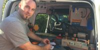 locksmith working in van the patch